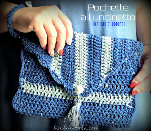Pochette a righe Tutorial/Guest Post all'uncinetto