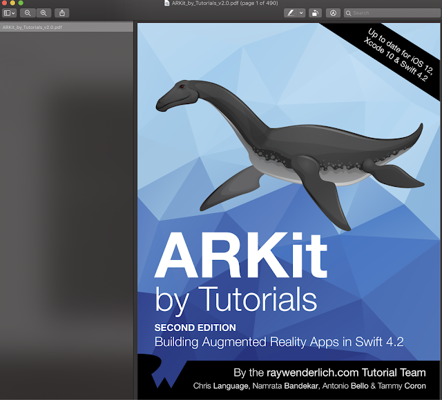 ARKit By Tutorials Second Edition Update Swift 4.2 IOS 12 and Xcode 10