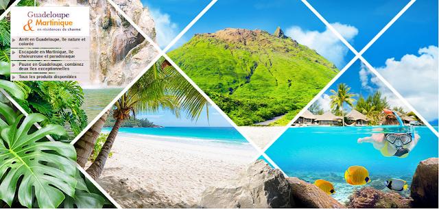 Séjour GUadeloupe et Martinique pAS CHER AVEC LOCATION VOITURE INCLUSE