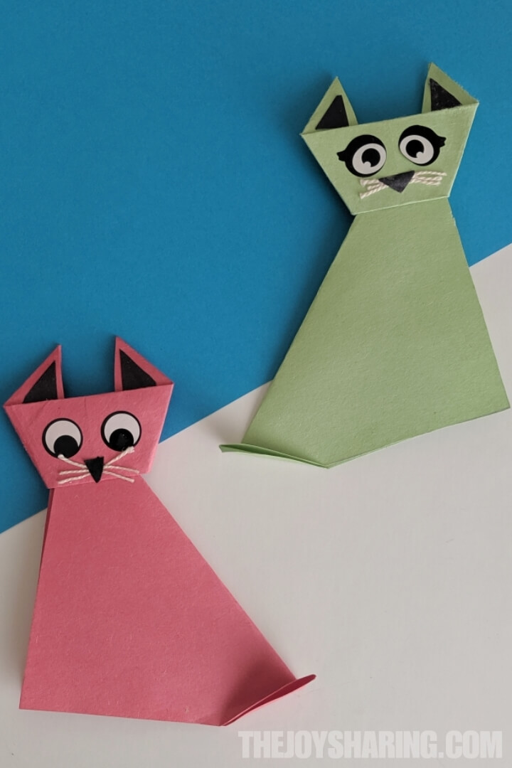 simple origami cat instructions for kids