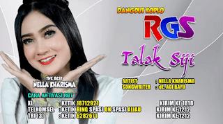 Lirik Lagu Talak Siji - Nella Kharisma