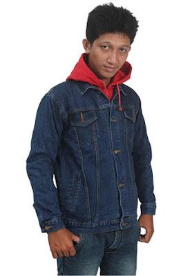 jaket jeans, jaket jeans hoodie, jaket levis pria
