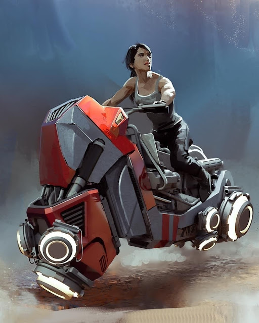 Hoverbike Concept Illustration by Lake Hurwitz