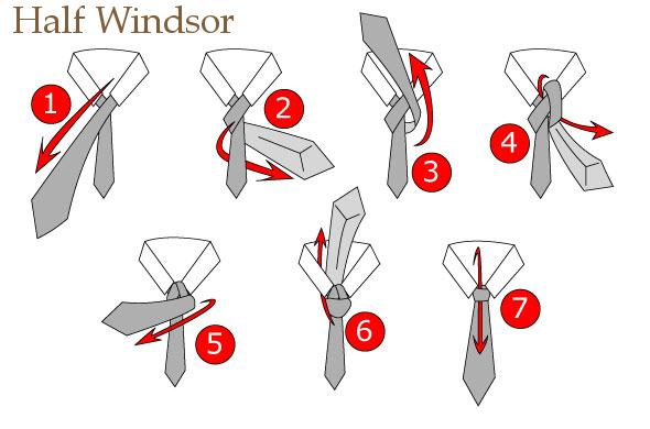 Cara Memakai Dasi SMP half windsor