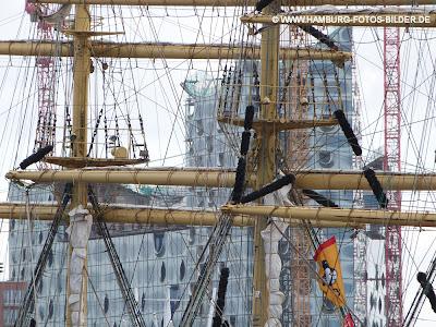 Segelschiff, Hafengeburtstag, Elbphilharmonie, Takelwerk, Takelage