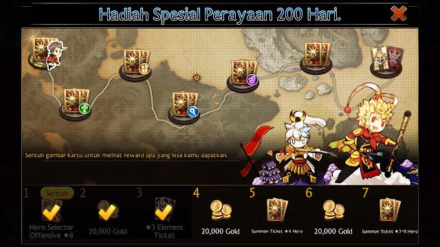 hadiah spesial perayaan 200 hari seven knights