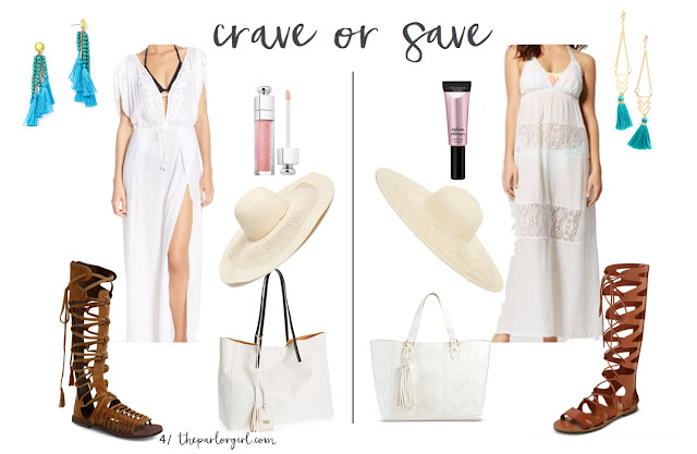spring break outfit ideas beach outfit inspiration white dress tall gladiator sandals large stew hat turquoise earrings white beach tote