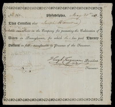VINE COMPANY OF PENNSYLVANIA share certificate