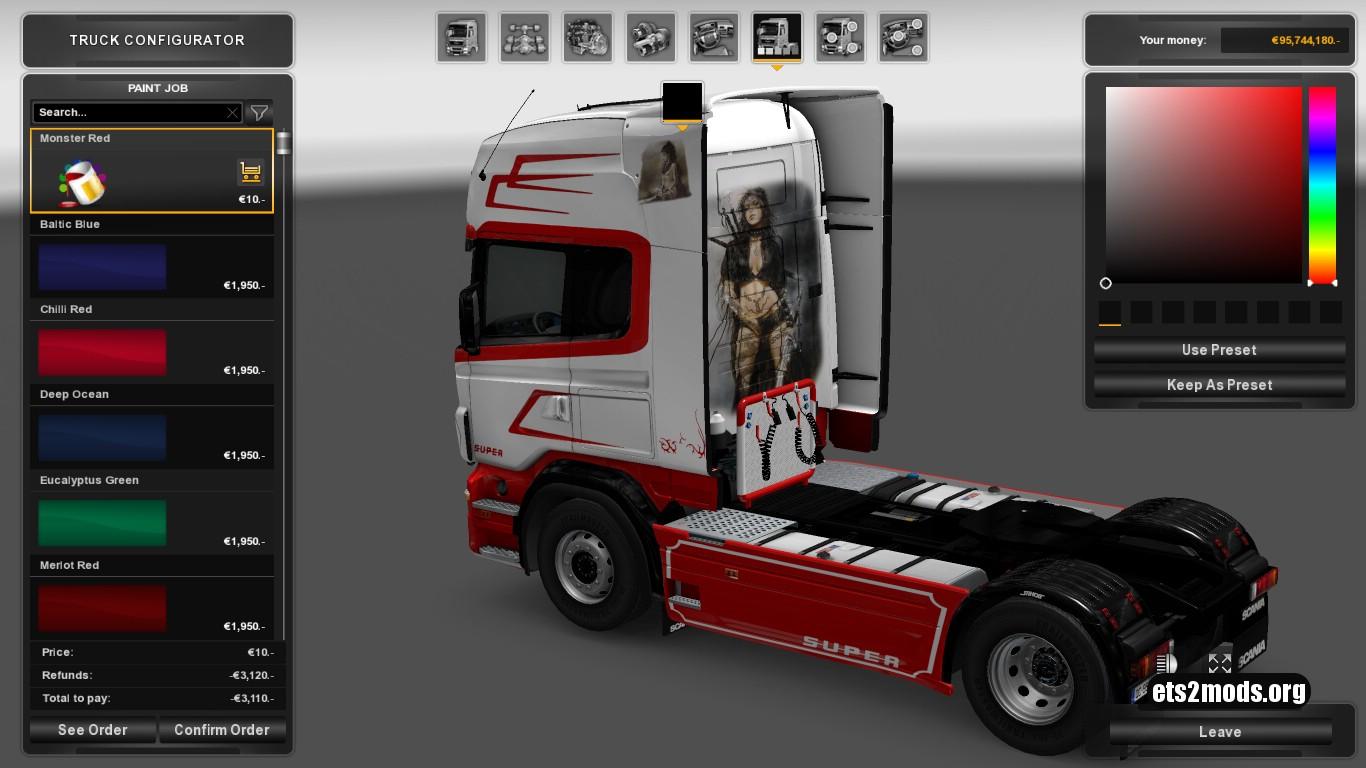 Monster Red Skin for Scania RJL