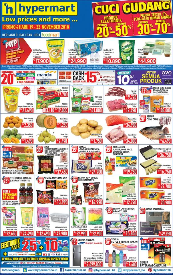 Hypermarket - Promo Katalog Low Price and More Periode 19 - 22 November 2018