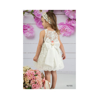 greek baptism lace gown