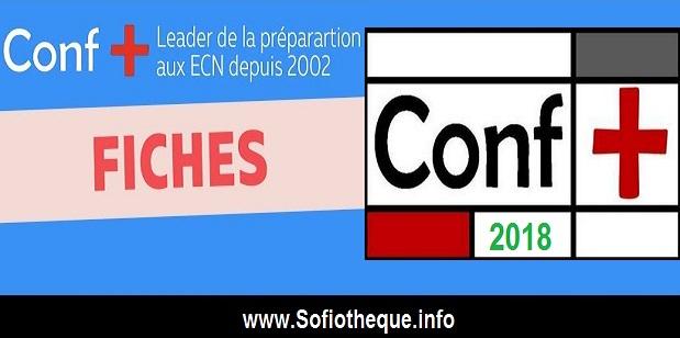 Télacharger Les Fiches ECN Conf+ 2018 PDF gratuit