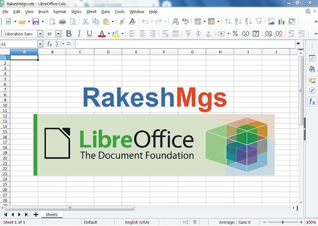 LibreOffice Calc Hindi Notes, LibreOffice Calc using file menu in hindi, CCC calc Notes