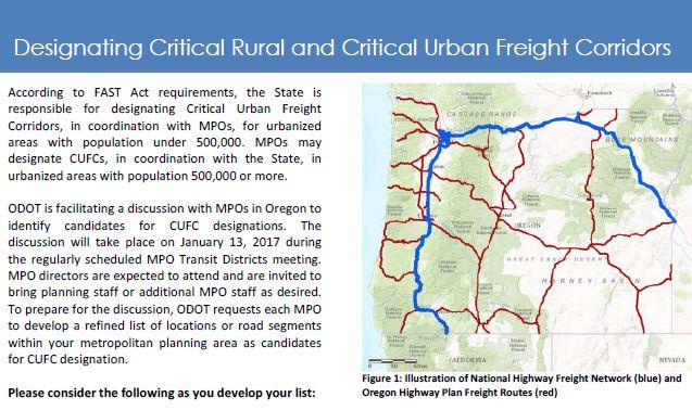 Salem Breakfast on Bikes: Urban Freight Corridors and the CMAQ Bonus