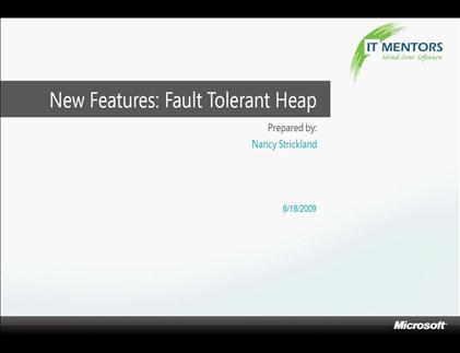 tutorial : Le Fault Tolerance Heap (FTH) Windows 7 ...