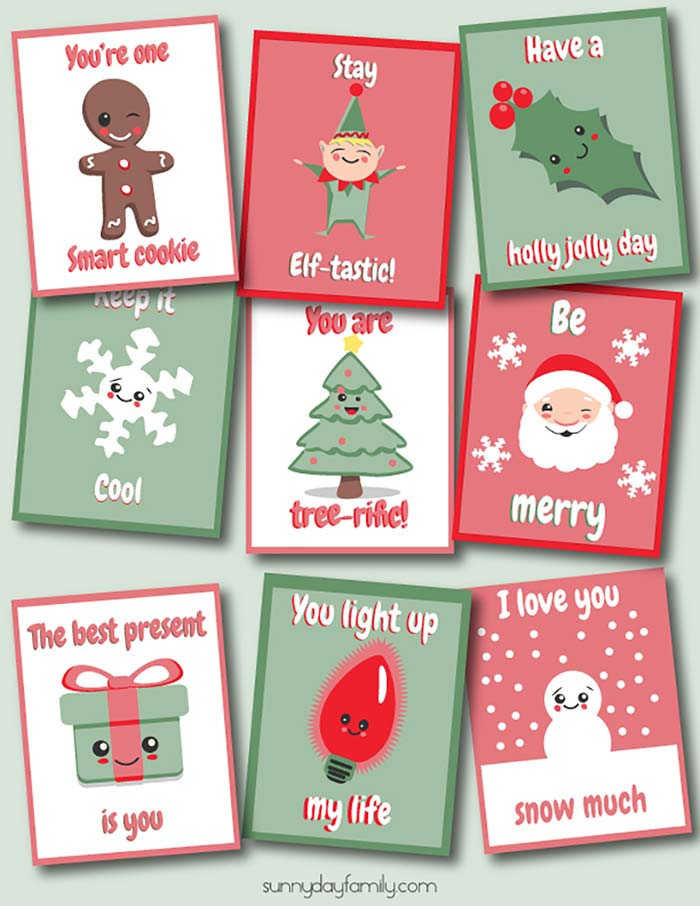 5 Pages on this link - Christmas Lunchbox Notes | Lunch ... |Christmas Lunch Box Notes