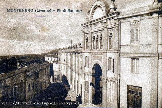 Cartolina d'epoca, edificio in via di Montenero, Livorno
