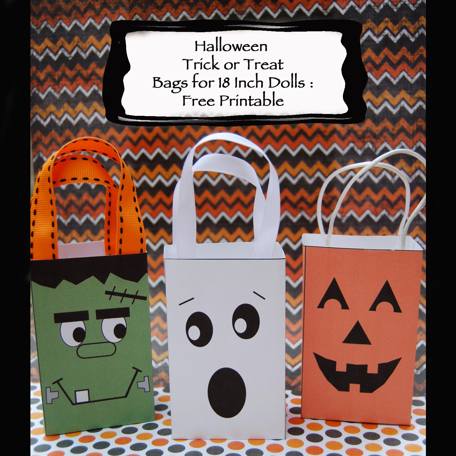 Dream Dress Play Halloween Trick Or Treat Bags For 18