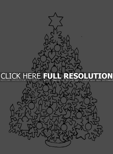 Download Print Hard Christmas Tree Coloring Pages
