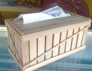 wadah tisu bambu