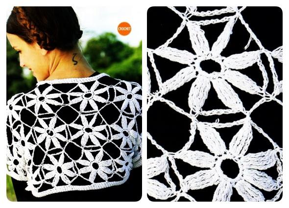 capas crochet, capas motivos florales, capas a ganchillo