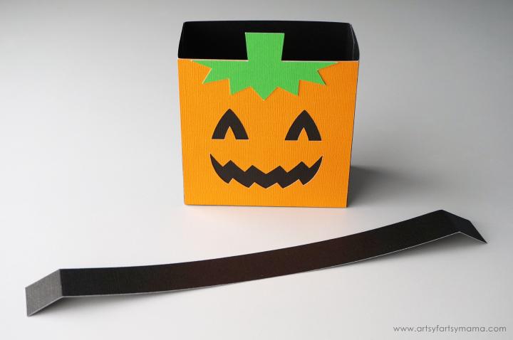 Halloween Pumpkin Character Treat Bag made with Cricut Maker #CricutMade