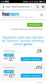 Membuat domain di freenom