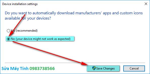 Hướng dẫn tắt Update Driver trong Windows 10