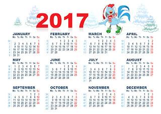 2017カレンダー無料テンプレート163