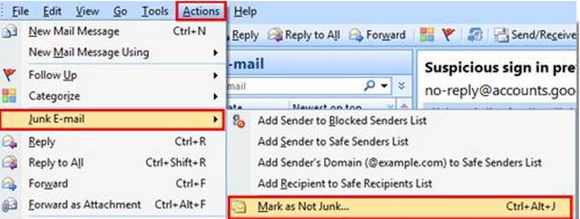 كيف تمنع البريد الالكترونى من تصنيف بعض الرسائل الهامة كغير مرغوب بها