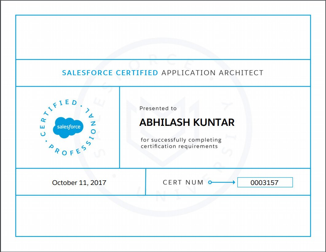 Lead The Force I Am Salesforce Certified Application Architect