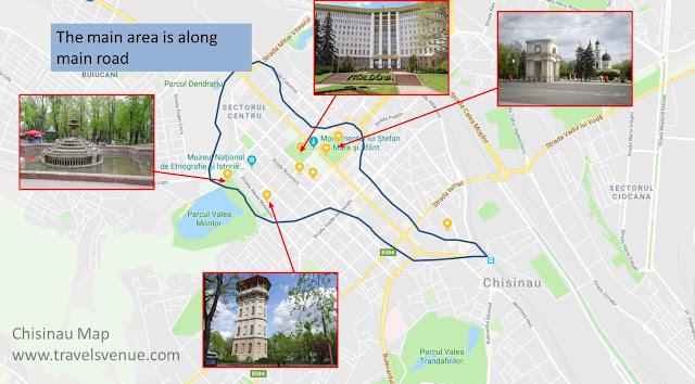 Chisinau Tourist Map