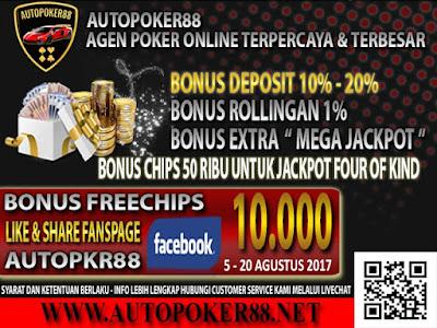 Autopoker88 bandar poker online terpercaya bonus deposit terbesar