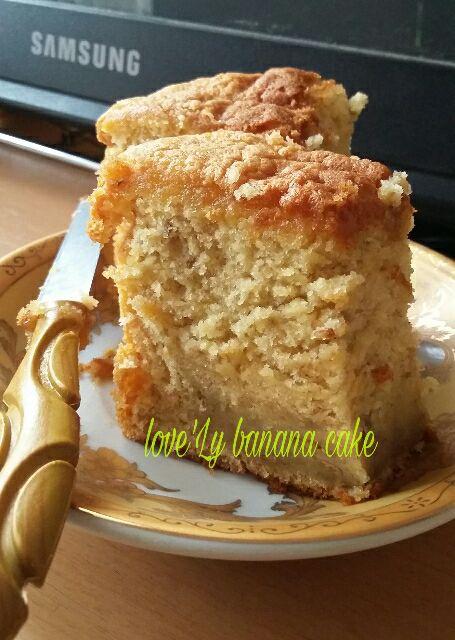 5 Bahan Saja Untuk Cake Pisang Yang Very Very Very Delicious Just Try Taste