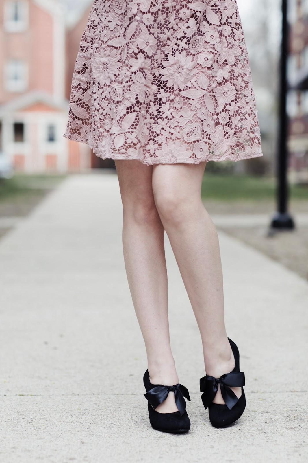 blush-lace-dress-bow-heels
