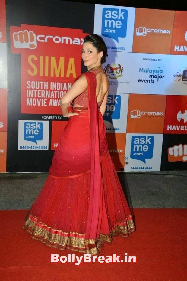 , Tamanna Bhatia Red Lehnga choli Dress Pics from SIIMA Awards 2014