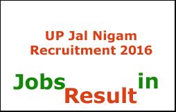 UP Jal Nigam Recruitment 2016