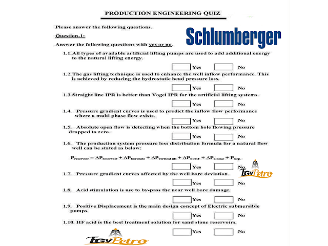 New Exam From Schlumberger May 2018