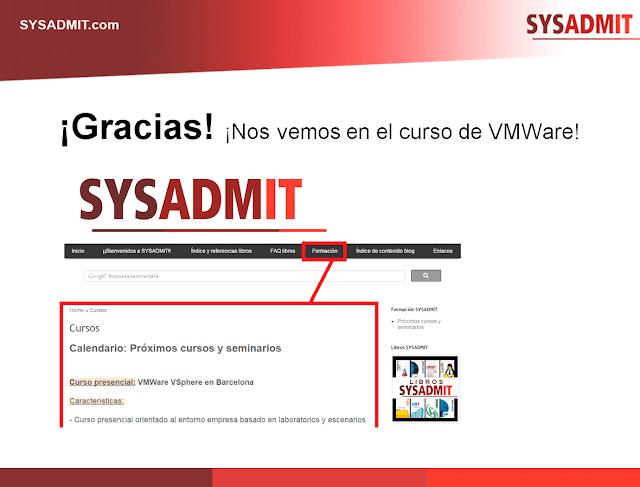 Curso presencial VMware en Barcelona (Julio 2016)