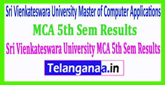 SVU Sri Vienkateswara University MCA 5th Sem 2018 Results