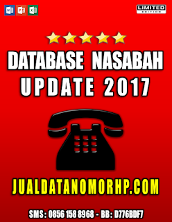 Jual Database Nasabah Update 2017