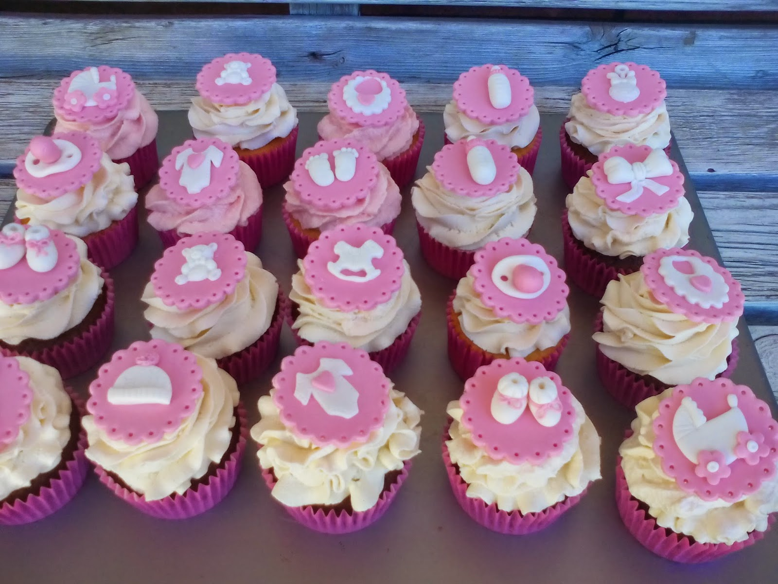 Te hago un postre Cupcakes para una baby shower
