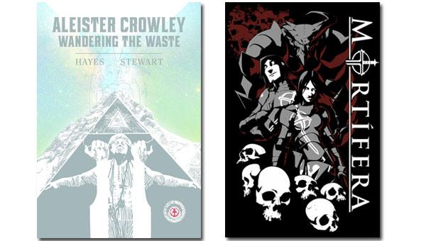 Mortífera y Aleister Crowley vagando por el páramo (Hirukoa Editorial)
