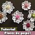 Como fazer flor de papel com furadores | Tutorial | PAP