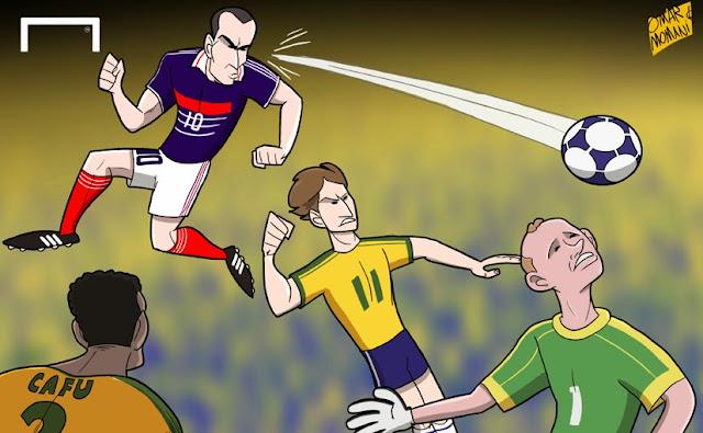 Zidane cartoon caricature illustration