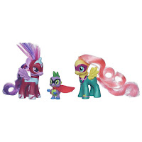 MLP Power Ponies Fluttershy as Saddle Rager and Twilight Sparkle Masked Matter-horn 2-pack with Spike as Humdrum