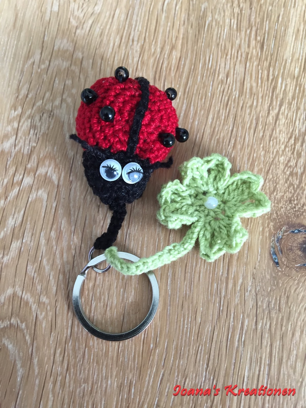 Lady Bug And Clove Key Chain Polymer Crochet Etc Handmade