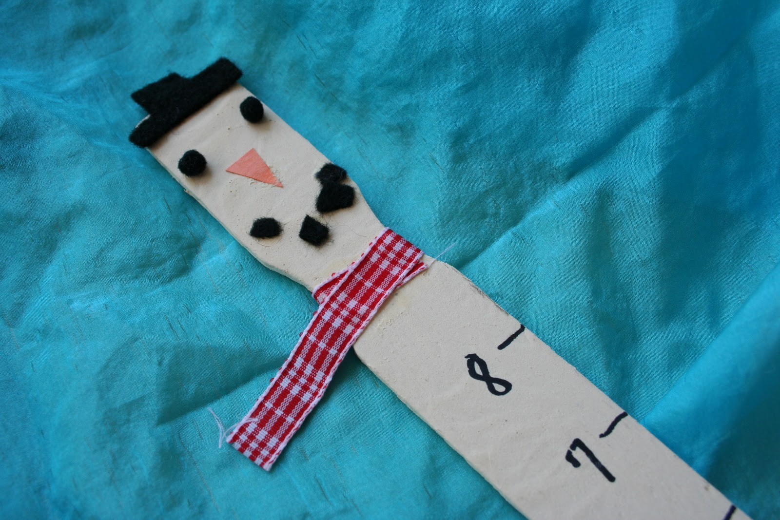 Re Cycled Paint Stick Snowman Snow Ruler
