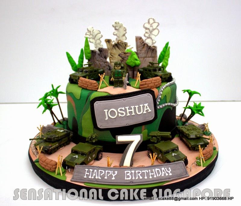 The Sensational Cakes Camouflage 1 Tier Birthday Cake