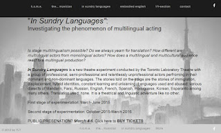 Phenomenon of multilingual conducted by the Toronto Laboratory Theatre